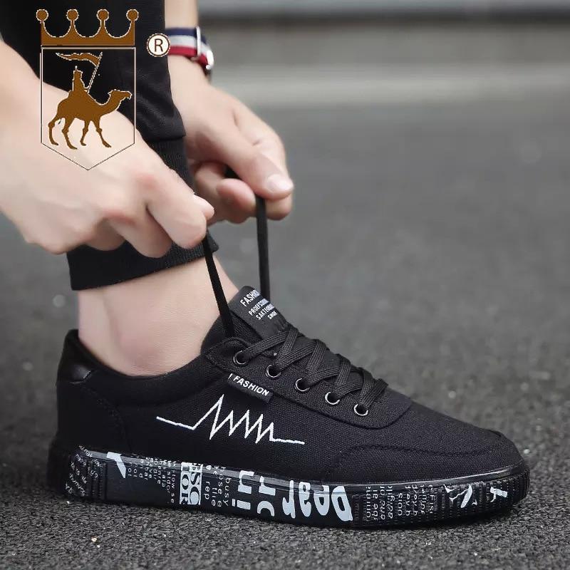 Nouveau Low Printemps Un Chaussures Colorsize39 Black Gold Avec Cut Backcamel2019 Noir Casual 44 White Solide Toile Respirant black black 7yfbg6