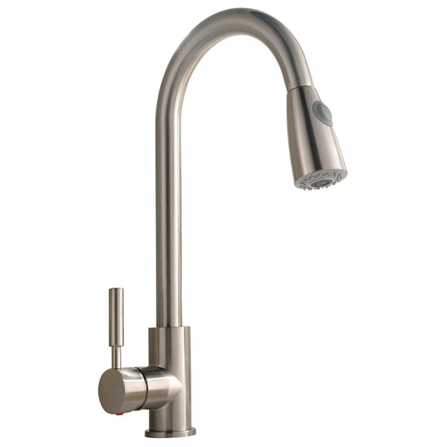 best commercial stainless steel single handle pull down sprayer rh aliexpress com  top rated stainless steel kitchen faucets