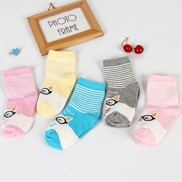 5pairs Baby Boys Girls Socks Striped Cotton Toddler Socks 1-12 Years Short Children Sock Kid Sneaker Socks Baby Stuff Chaussette