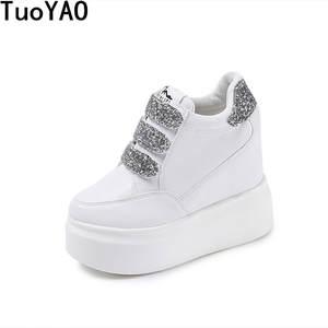 128829da3960 TuoYAO High Heels Spring Casual Wedge Women Platform Shoes