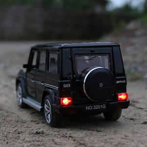 Benz G65 SUV Jeep AMG Toy Car Alloy Model Car Openable Sound Light Pull Back 1:32 Car Model boy Gift toys for children g53 g500