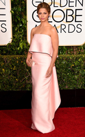 Camila Alves Celebrity Dresses 72 Golden Globe Awards Red Carpet Dresses Strapless Column Light Pink Evening