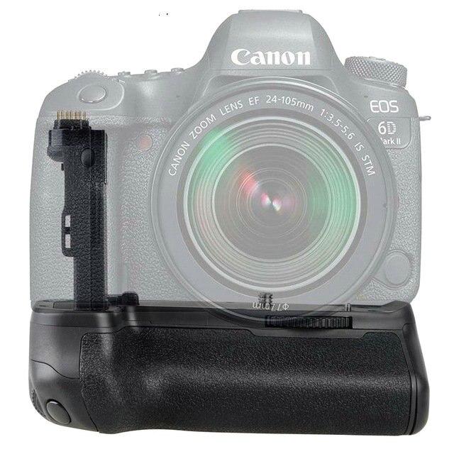 Battery Grip Vertical pour Canon 6D Mark II 6D2 DSLR Batterie Poignée Remplacement BG E13