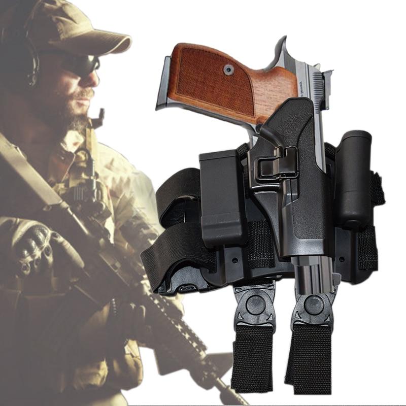 Hot!Glock Leg Holster Tactical Military Combat Thigh Holster Hunting Shooting Gun Holster Glock 17 19 22 23 31 32