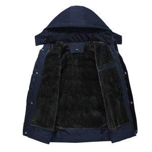 Image 3 - Erkek Kış Kalın Polar Aşağı Ceket Yeni 2018 Kapşonlu Palto Rahat Kalın Aşağı Parka Erkek Ince Rahat Pamuk yastıklı Mont XL 4XL