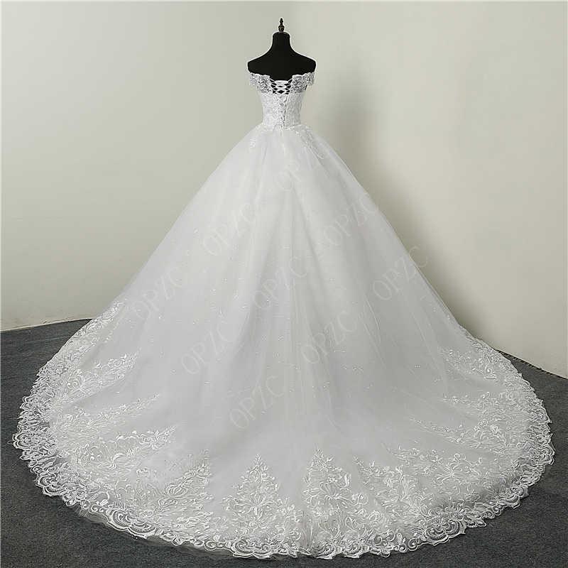 Giảm Giá 30% Phối Ren Sang Trọng Thêu 2020 Áo Khoác Dài 100 Cm Tàu Người Yêu Thanh Lịch Plus Size Đầm Vestido De Noiva Cô Dâu