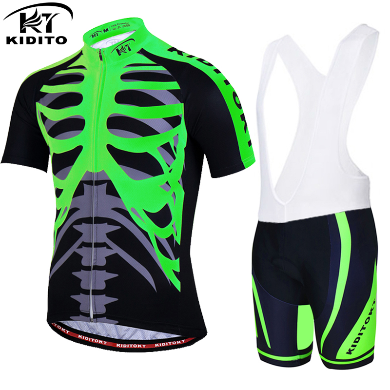 KIDITOKT Pro Cycling Jersey set/ Bike uniform Cycle shirt Ropa ciclismo/ Bicycle Clothing Wear MTB Cycling Clothing Cycling Set wosawe waterproof cycling jersey cycling rain jacket wind coat bicycle clothing ciclismo mtb bike cycle raincoat