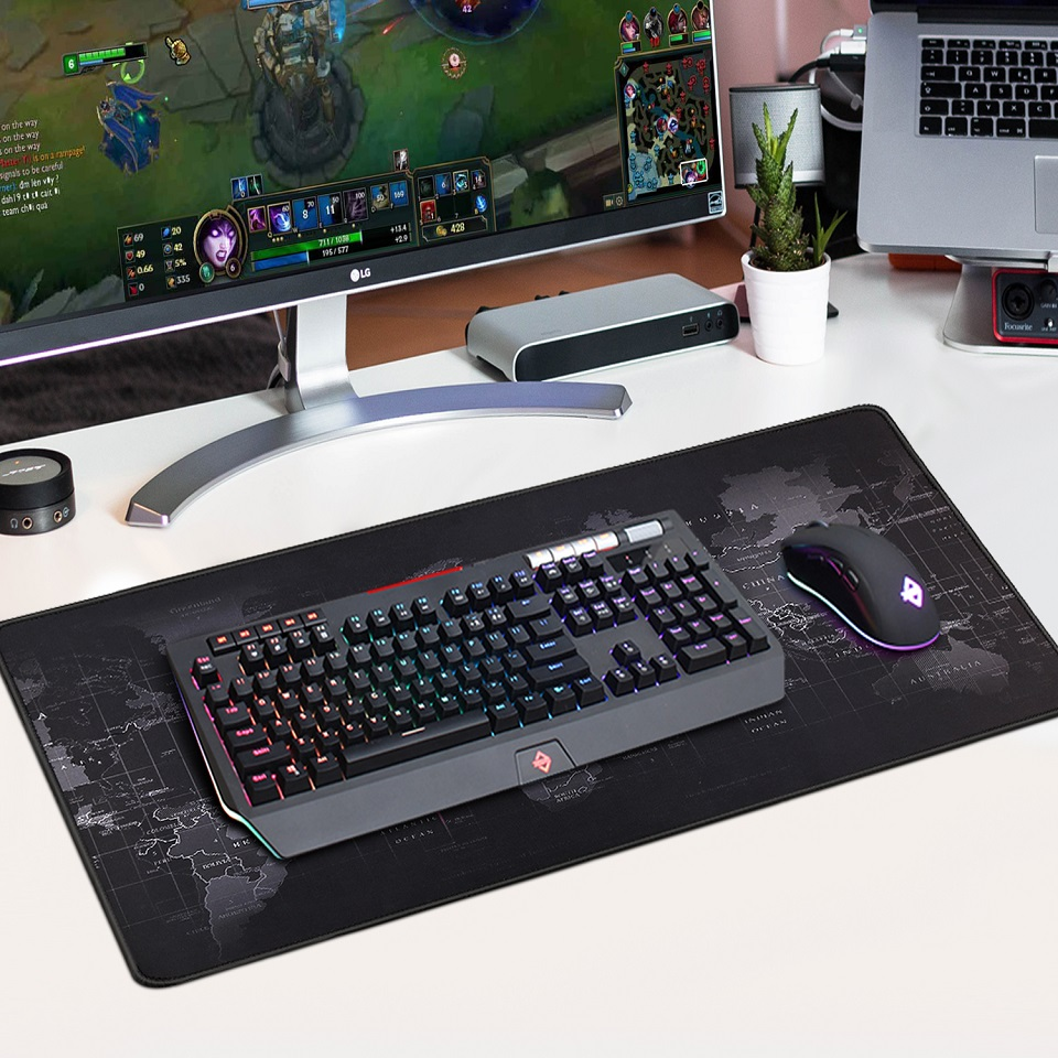 Led Keyboard And Mouse Pad Rgb Version
