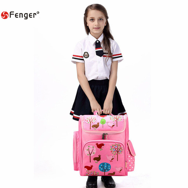 New Oxford School Bags for Girls mochila escolar Children Cartoon backpack Cute Birds Waterproof  School Backpacks for children