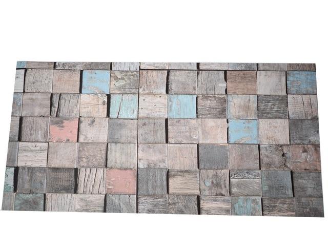 3d vintage wood vinyl waterproof flooring tile wall tile sticker kitchen bathroom 6
