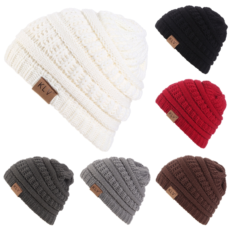 Kids Girl Boy Baby Child Winter Warm Crochet Knit Hat Baggy Beanie Skull Ski Cap W715 hot winter beanie knit crochet ski hat plicate baggy oversized slouch unisex cap