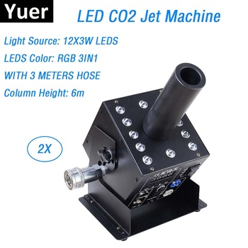 2Pcs Free Shipping Stage Effect CO2 Jet Machine 12X3W LED Lamp Co2 Jet Machine / LED CO2 Jet For Stage Easy Angle Small Co2 Jet фото