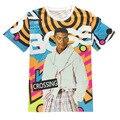 Homens / mulheres t camisa chefe travessia Carlton caráter impresso gráfico de homens de manga curta t-shirt 3d