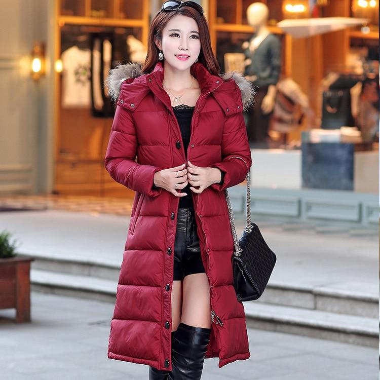 e7af5259252 AYUNSUE women winter long jacket 2018 raccoon fur hood manteau femme down  cotton padded coats women parkas abrigo mujer LX173-in Parkas from Women s  ...