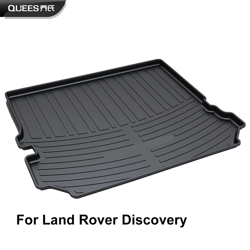 QUEES Custom Fit Cargo Liner Carpet Tray Floor Mat for Land Rover Discovery 3 LR3 Discovery