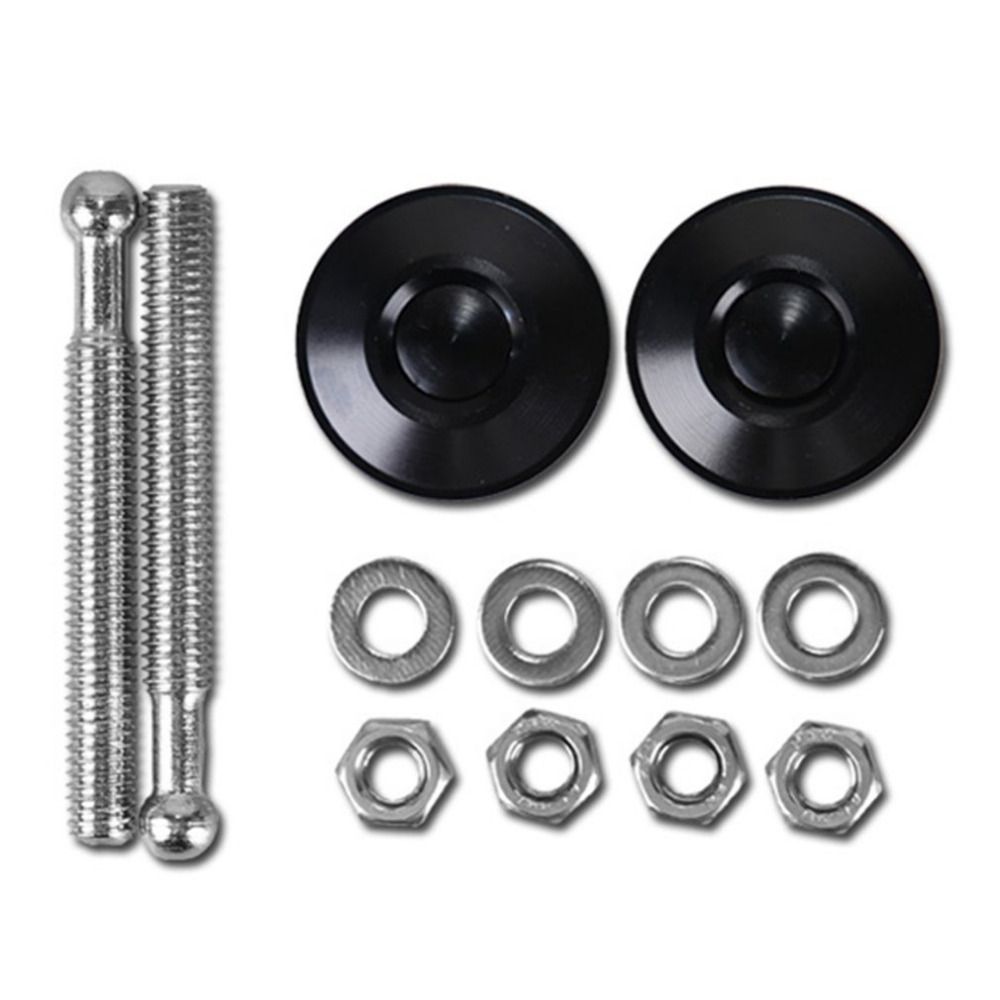 Universal Push Button Billet Hood Pins Lock Clip Kit Car Quick Latch Aluminum Alloy Mini Engine Hood Cover Lock For Honda Good For Antipyretic And Throat Soother