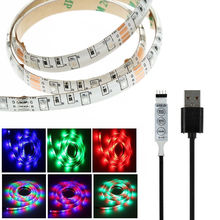 1 m DC 5 V USB Luzes LED Strip RGB 3528/5050 Fita Fita De TV PC Laptop PC Do Computador Do Carro cozinha