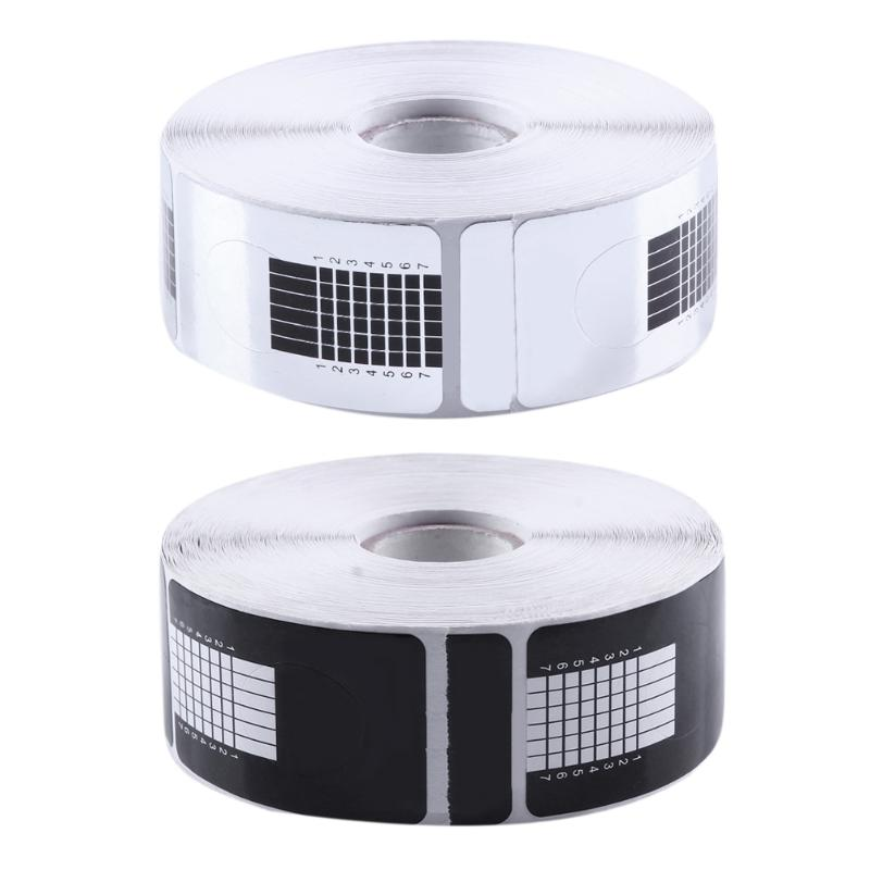 500pcs Nail Guide Sticker Tape Extension Adhesive Nail Forms Acrylic Curve Manicure Gel Extension Nail Art Guide Foorm