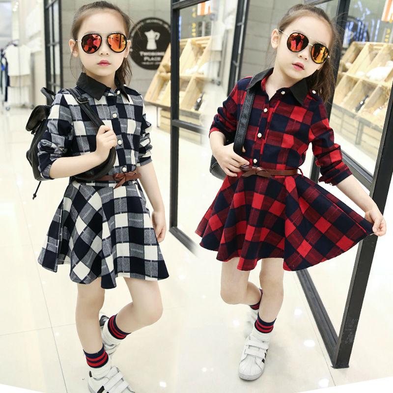 Plaid Dresses For Girls (8)