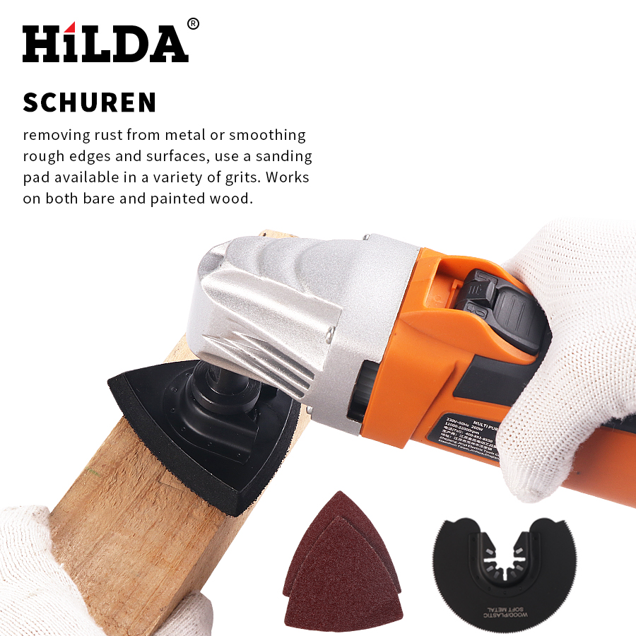 Image 4 - HILDA Renovator Multi Tools Electric Multifunction Oscillating Tool Kit Multi Tool Power Tool Electric Trimmer Saw Accessories-in Oscillating Multi-Tools from Tools on