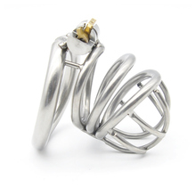 Stainless Steel Male Chastity Device Penis Ring Curved Cock Cage Stealth Lock Rings Sex Toys for Men 40mm/45mm/50mm