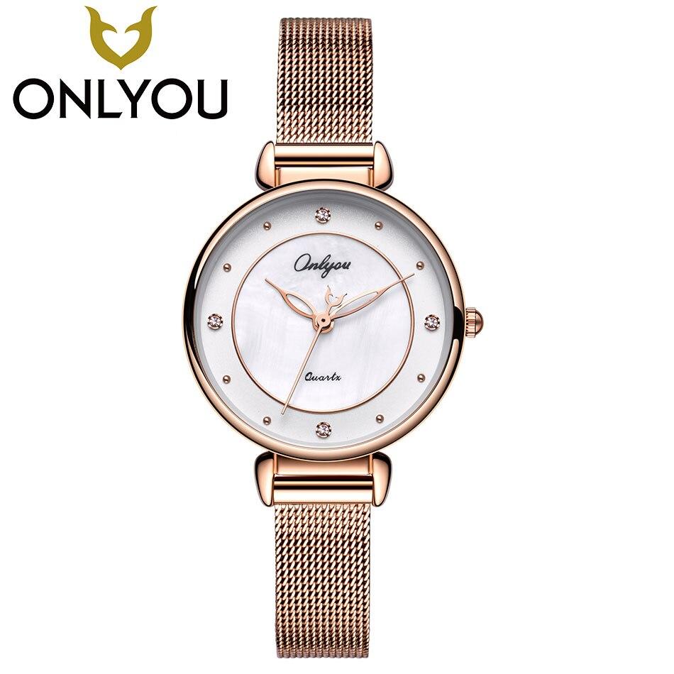 ONLYOU Fashion Girlfriends Watches Women Top Luxury Brand Diamond Waterproof Clock Ladies Business Quartz Watch Gift Wholesale стоимость