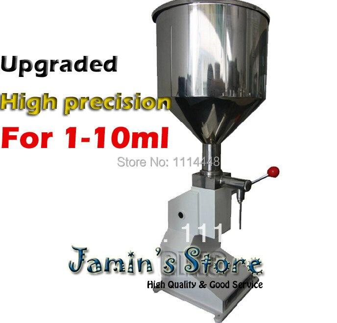 Marca Nova Atualização Manual Pequena Dose Máquina de Pasta de Enchimento, máquina de Enchimento Líquido Manual 1-10 ml A03