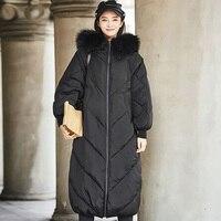 Winter Jacket Women 2018 Huge Fur Collar New Female Coat Jackets Woman Winter Coat Hooded Thick Warm Long Loose Parkas Outwear