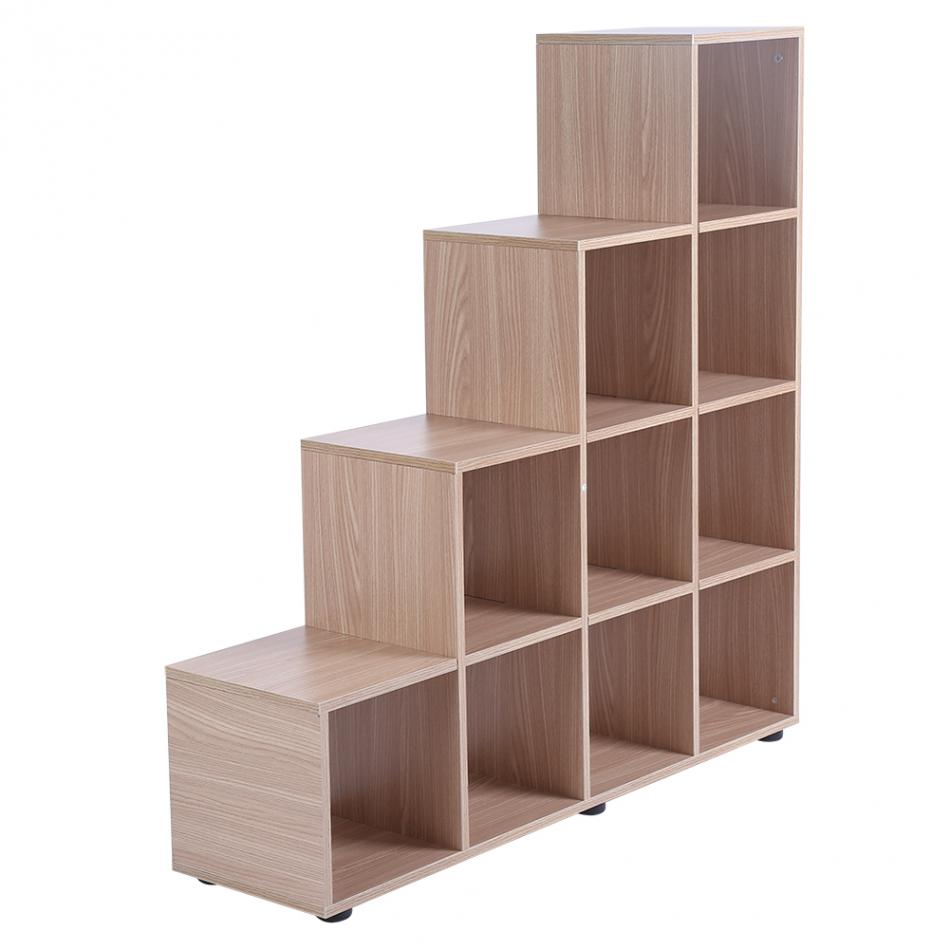10 Grids Storage Cube Display Shelf Modern Wooden Bookshelf Bookcase Home Office Use 2 Type for Choose wall shelf for tea pots