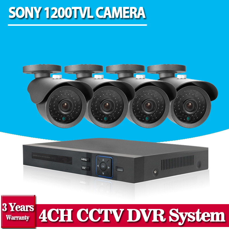 2016 Hot Sale CCTV System 4CH HDMI AHD 960P CCTV DVR 4PCS Outdoor Security Camera 36Led