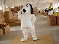 Deluxe White Dog Mascot Costume, Halloween Mascot Costume Fancy Dress with helmet