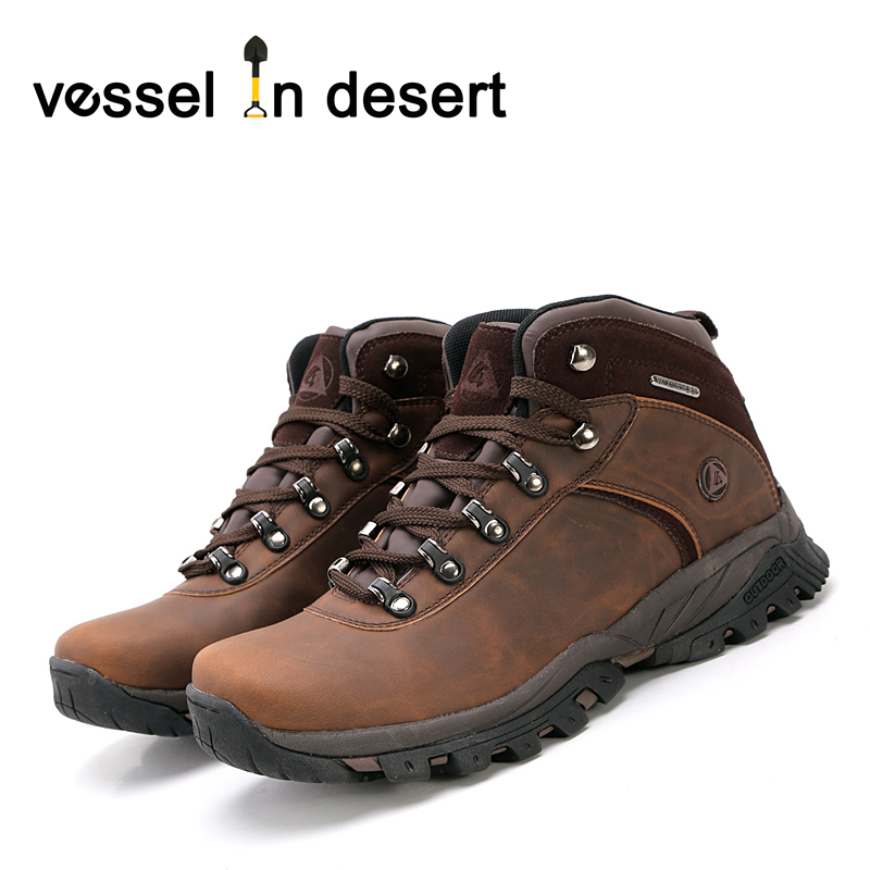 da5111b8e48 US $49.49 50% OFF|Free Shipping Vessel in Desert Hot Sale Waterproof Men's  Hiking Boots Outdoor Breathable Boots Mens Footwear-in Hiking Shoes from ...