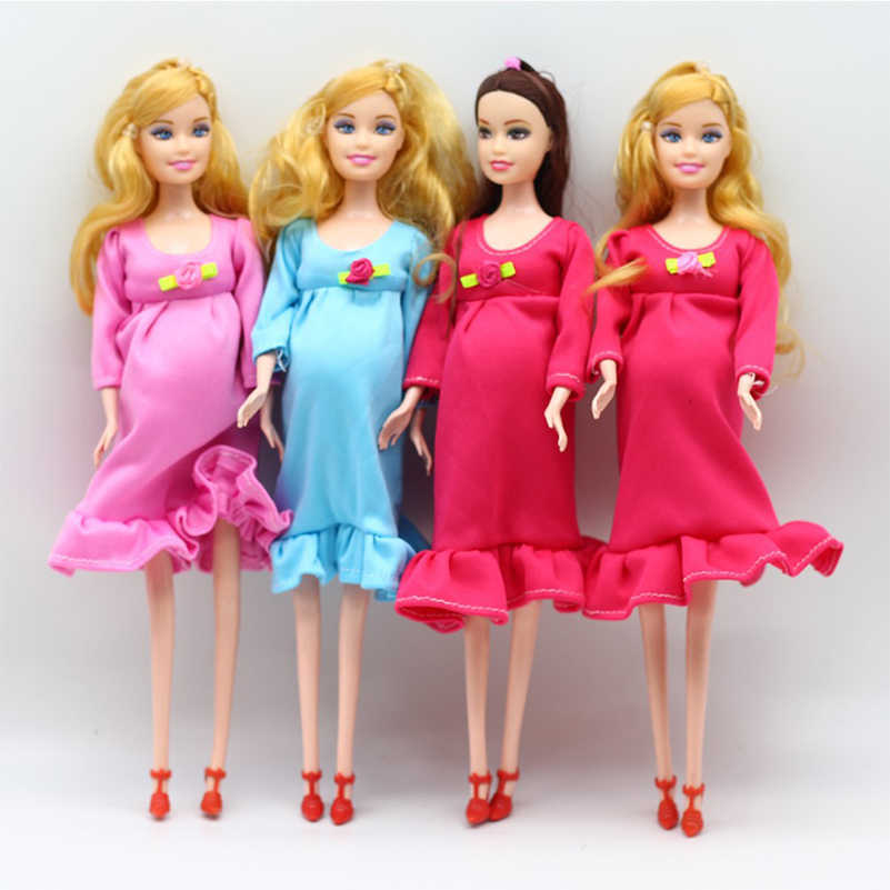 1 Peça Mulheres Grávidas Dolls Com Um Bebê Nascido Boneca PVC Com Vestido de Maternidade Interativo Brinquedos Presente Para As Crianças