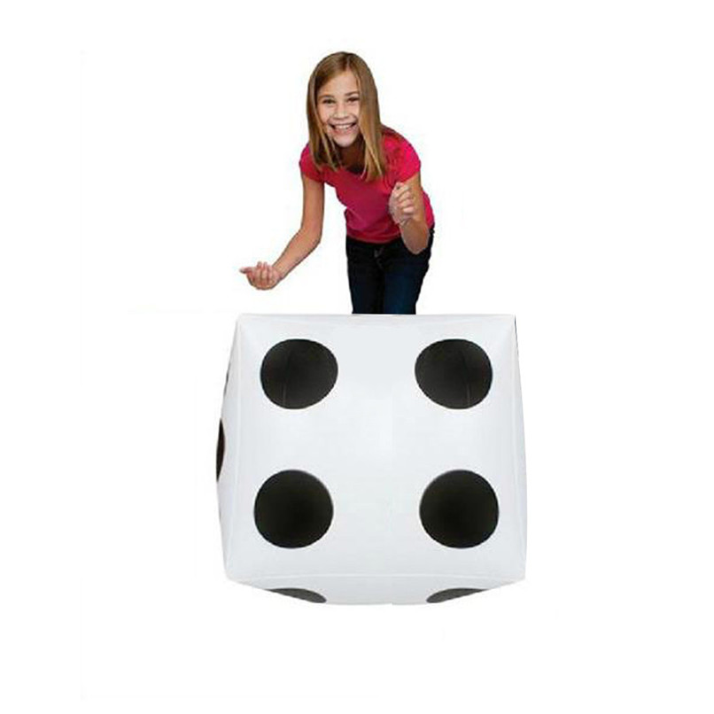 Dice Educational Toys 28cm Child Toy Inflatable Dice Jumbo Large Inflatable Dice Dot Diagonal Giant Toy Party Air #2o23