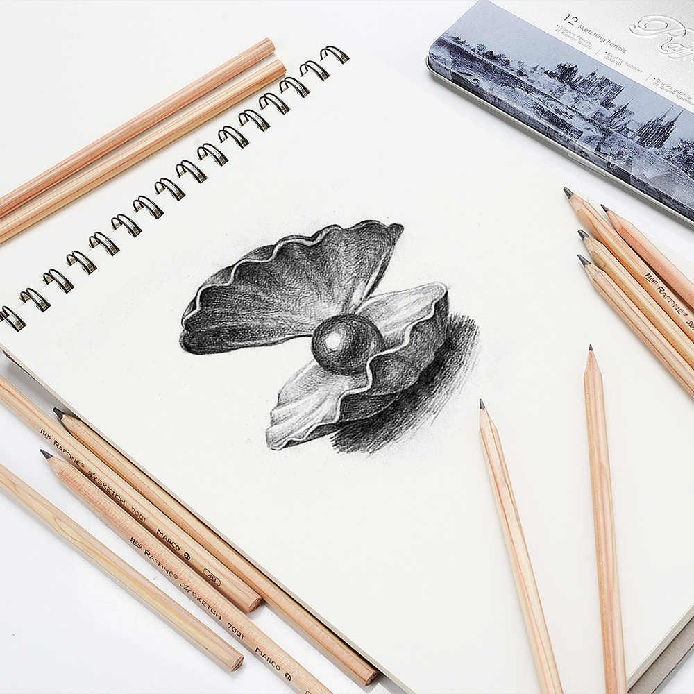 Marco 14pcs sketch drawing pencil set 3h 2h h hb 2b 3b 4b 5b 6b 7b