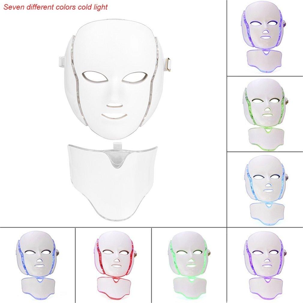 2017 Hot LED 7Colors <font><b>Light</b></font> Microcurrent Skin Rejuvenation Facial Mask Electric Device High Quality <font><b>Face</b></font> Skin Care Tools FM88