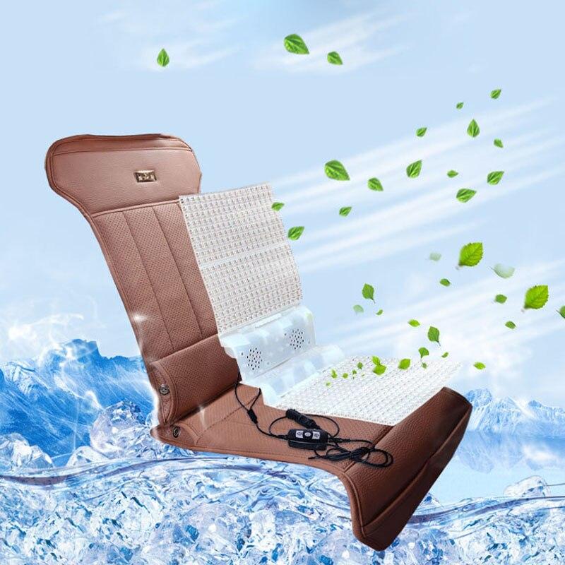 ФОТО 2016 Hot Ventilation Cushion Single Piece 12V Car Seat Cushion Summer Breathable Leather Electric Ventilation Fan Seat Cover