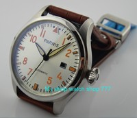 47mm PARNIS Automatic Self Wind movement men's watches big pilot dial High quality Watch wholesale x00014a