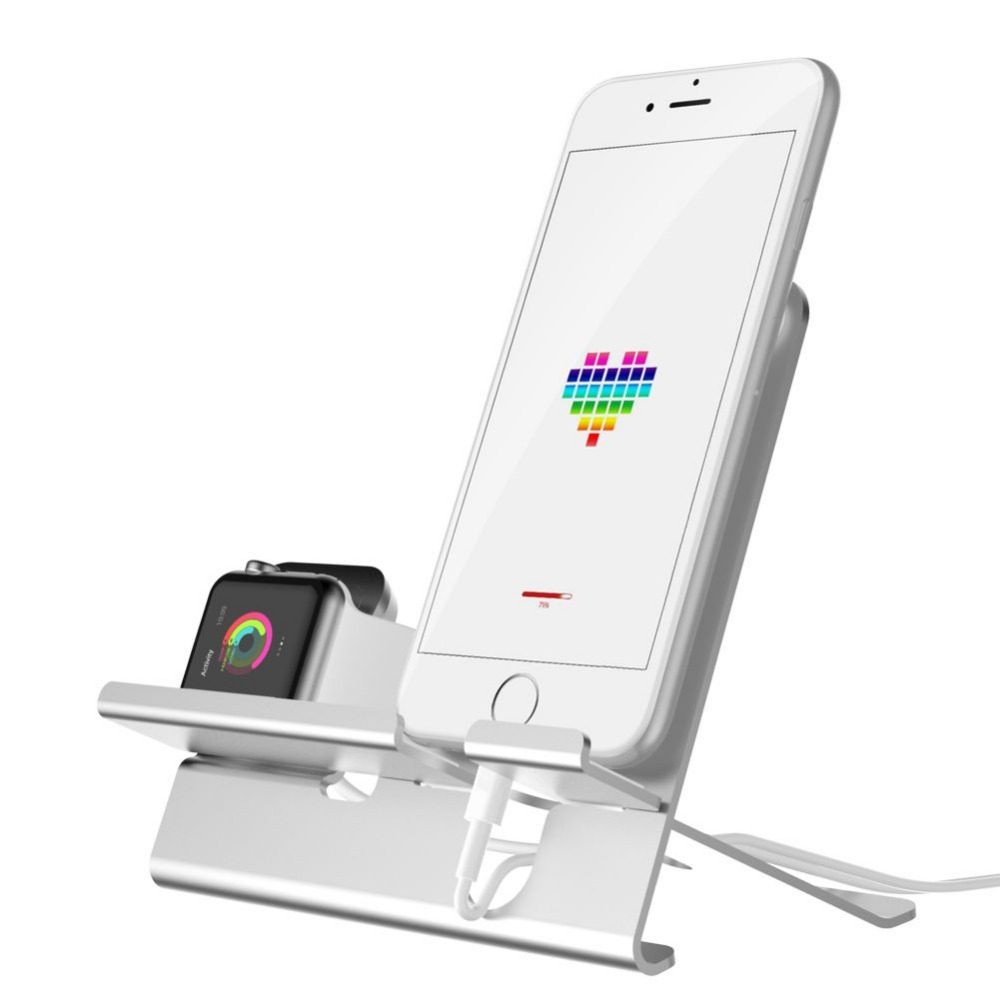 Charging Dock station for iPhone x/7/8 for Apple Watch stand Table phone holder mobile support Desk charge phone Holder for ipad