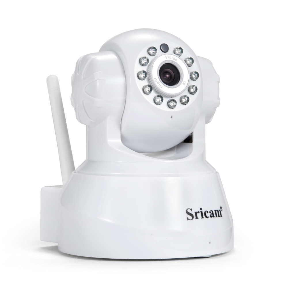 White Sricam HD 720P Indoor Wifi IP Camera Support Onvif Pan/Tilt 128G TF Card Smart Home Wireless Night vision wireless ip camera hd 720p megapixel wifi camera home security cameras support tf sd card indoor two audio pan tilt p2p ip cam
