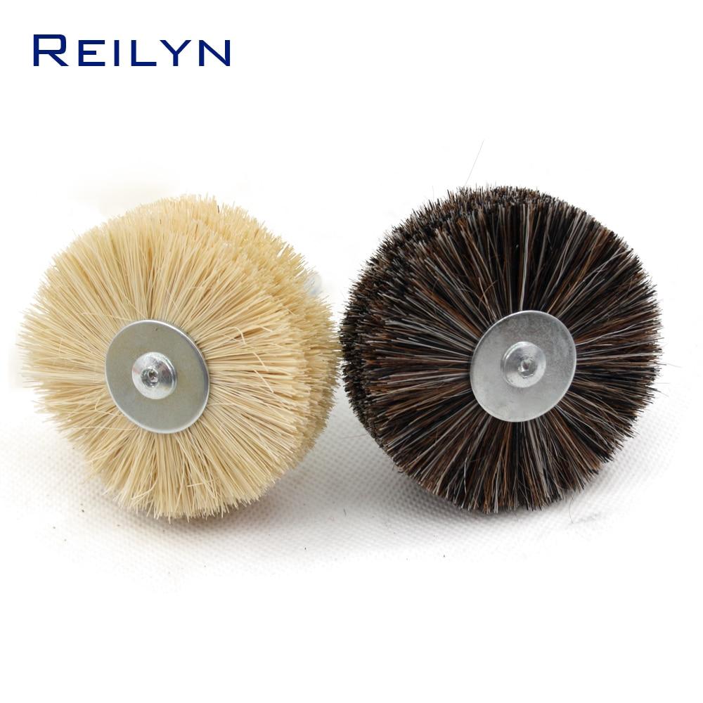 Metal Polish Sisal 6mm Fiber Brush Woodworking Horsehair Fiber Mop Wheel Polishing Paste Electric Hand Drill Rotary Tool