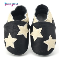 Toddler Boys Girls Leather Star Pattern Shallow Prewalkers Slip On Soft First Walkers Footwear Moccasins For