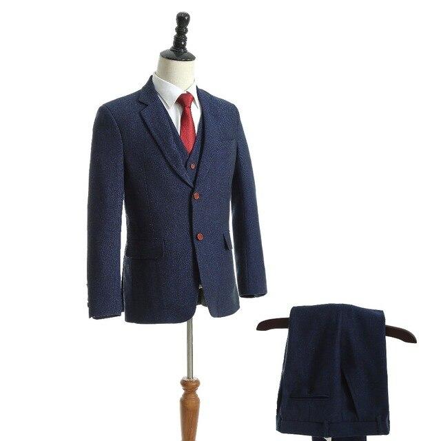 Two Buttons Groom Tuxedo 7 Colors Groomsmen Notch Lapel Wedding/Dinner Suits Best Man Bridegroom (Jacket+Pants+Vest) C60