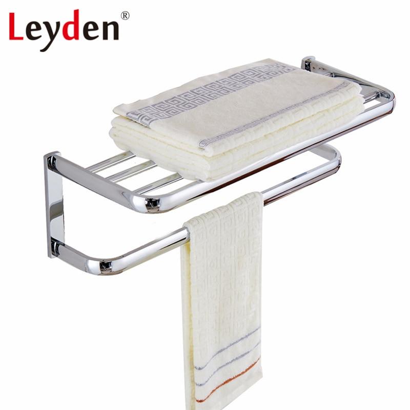 Leyden Modern Towel Shelf With Bar ORB/ Antique Brass/ Gold/ Chrome ...
