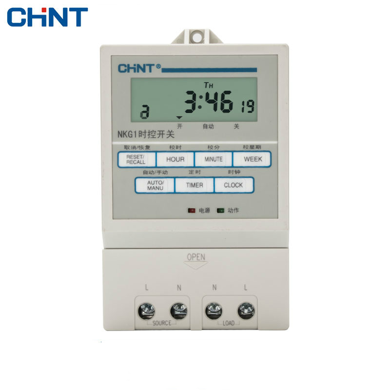 цены CHINT Timing Switch NKG1 Street Lamp Microcomputer Time Controller Time Control Switch Electronics Timer 220v