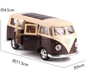 Image 2 - Caipo 1:38 Тяговый автомобиль Volkswagen bus T1 литой металлический автомобиль из сплава для коллекции, подарка и украшения