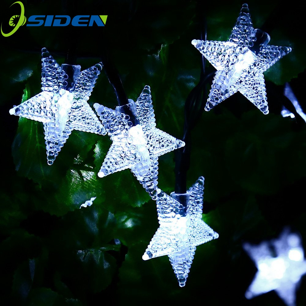 OSIDEN Holiday light 8m 60led 10m 100 LED Solar String rgb star Fairy Lights Waterproof Outdoor Decorated Garden Christmas