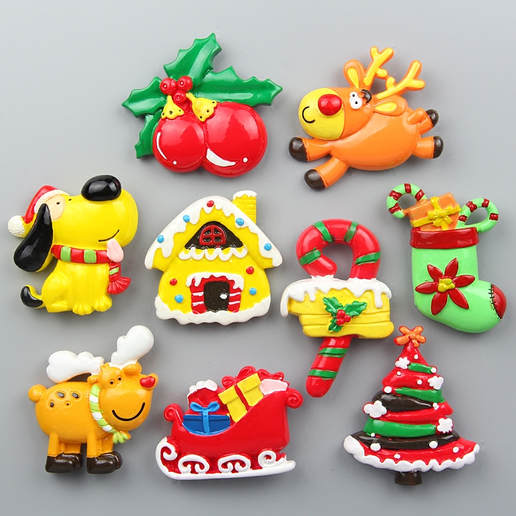 Stereo refrigerator magnets creative children's morning education magnets message stickers decorations cute Christmas gifts