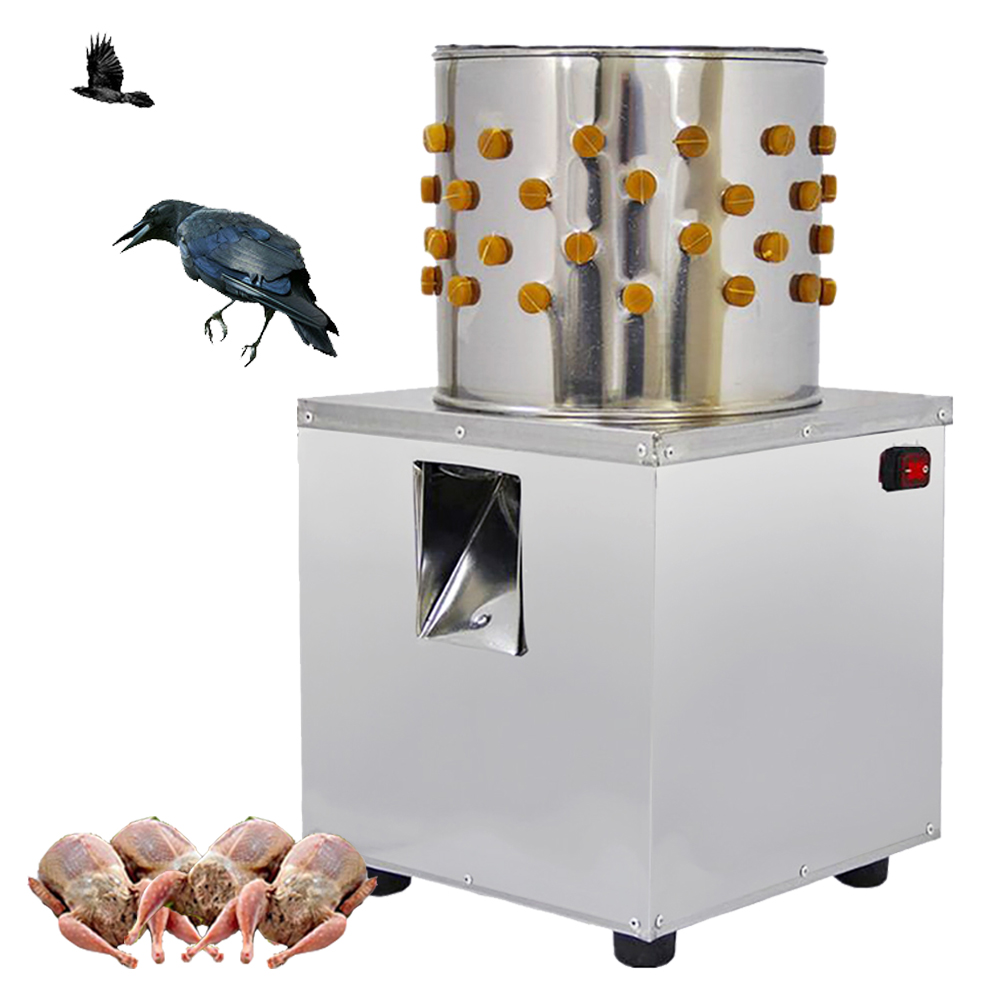 Home Use Stainless Steel 30Cm Chicken Plucker Machine Plucking Feathers For Poultry Birds-In -3581