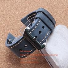 De Cuero de Vaca italiana suave Gris Reloj de La Correa 20mm 22mm 24mm 26mm Correa de reloj de Pulsera Más Grueso cinturón los hombres relojes accesorios